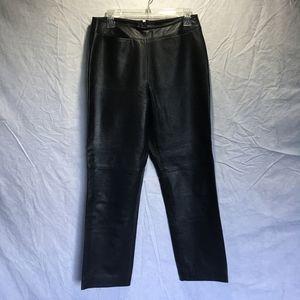 Clothes Revue 100% Lamb black leather Pants